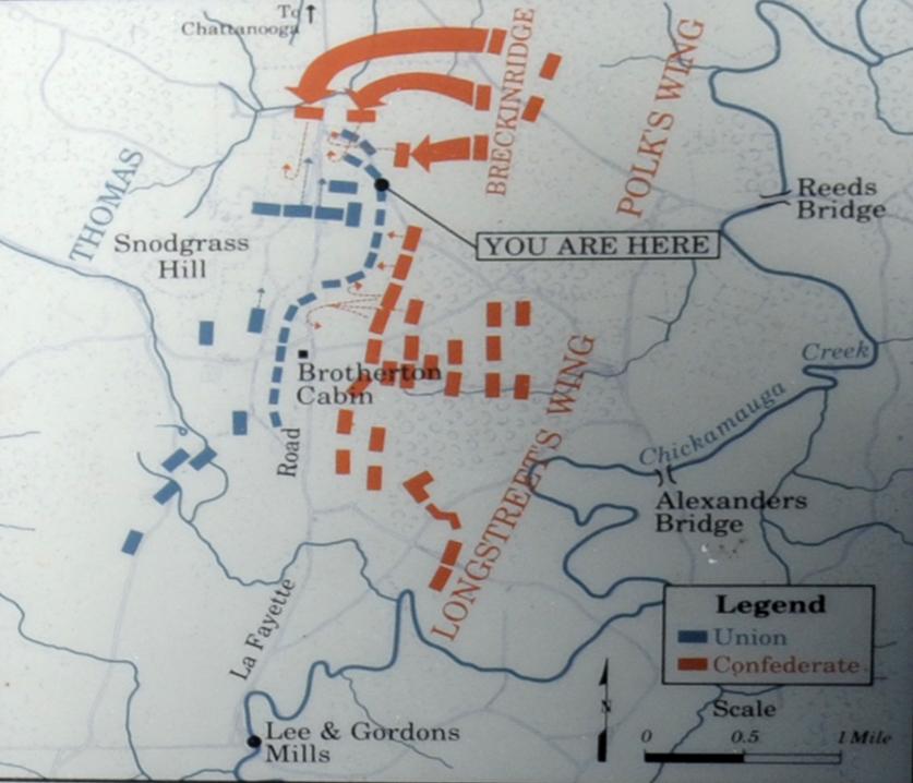 Chickamauga And Chattanooga National Military Park BATTLE OF - Battle of chickamauga map