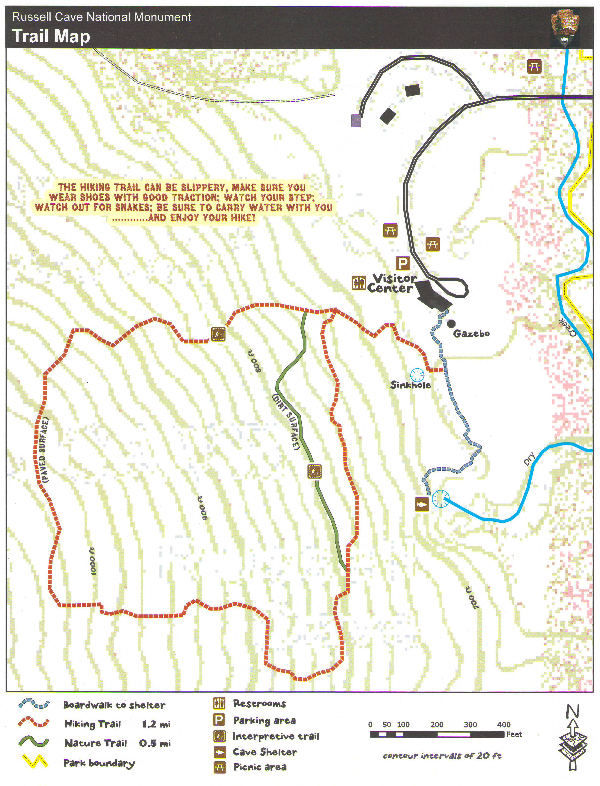 Russell Cave National Monument HIKING TRAILS - Us hiking trails map