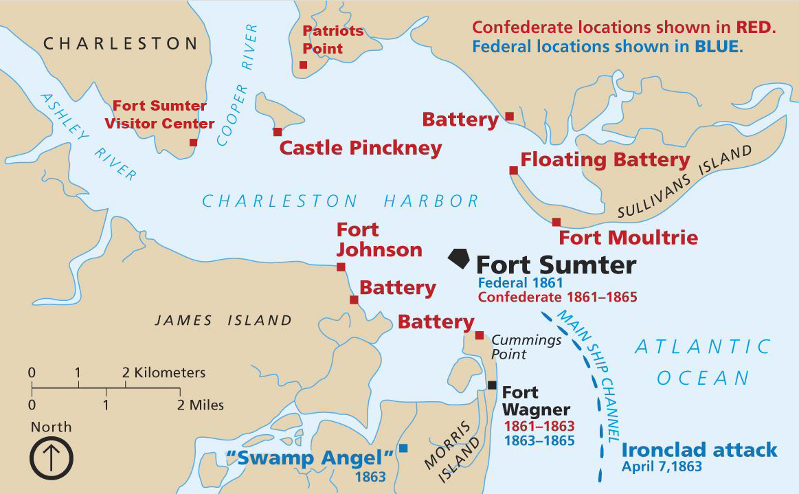 Fort Sumter National Monument PARK AT A GLANCE - Fort sumter on us map