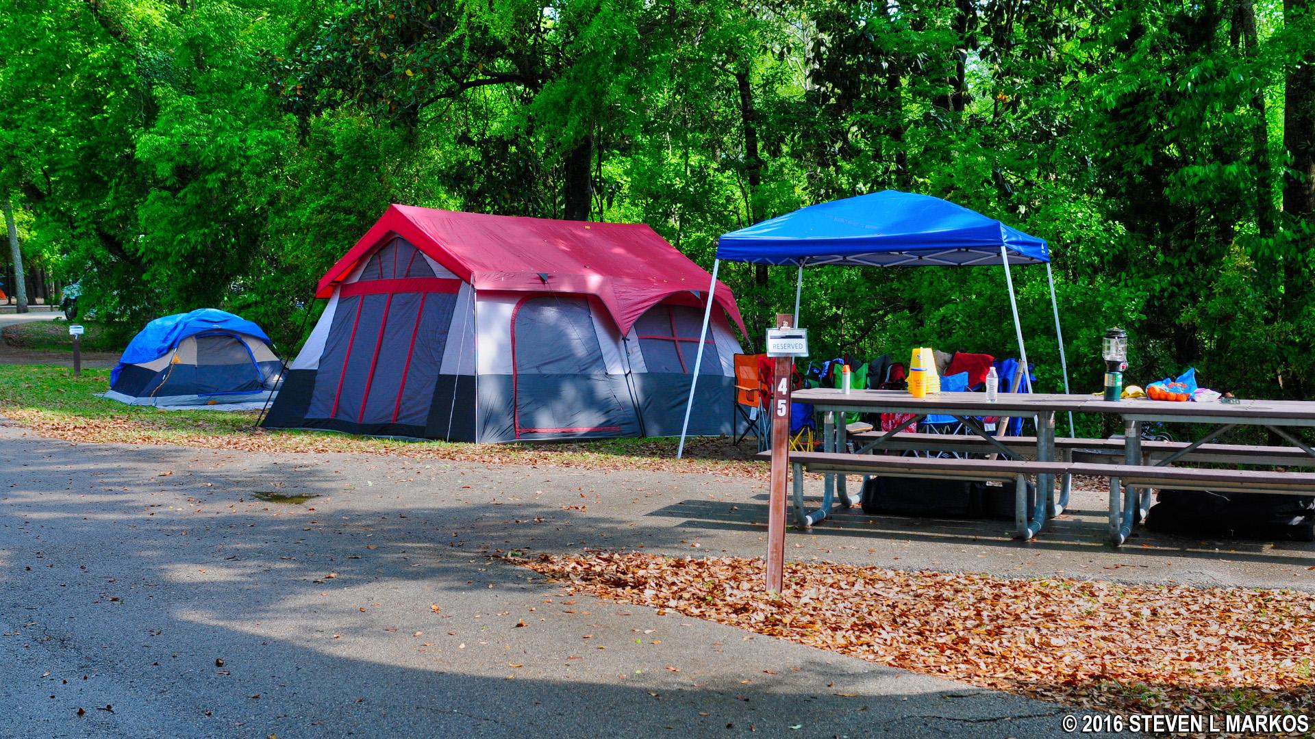 Tent c&ers at Davis Bayou C&ground & Gulf-Island-MS-059 |