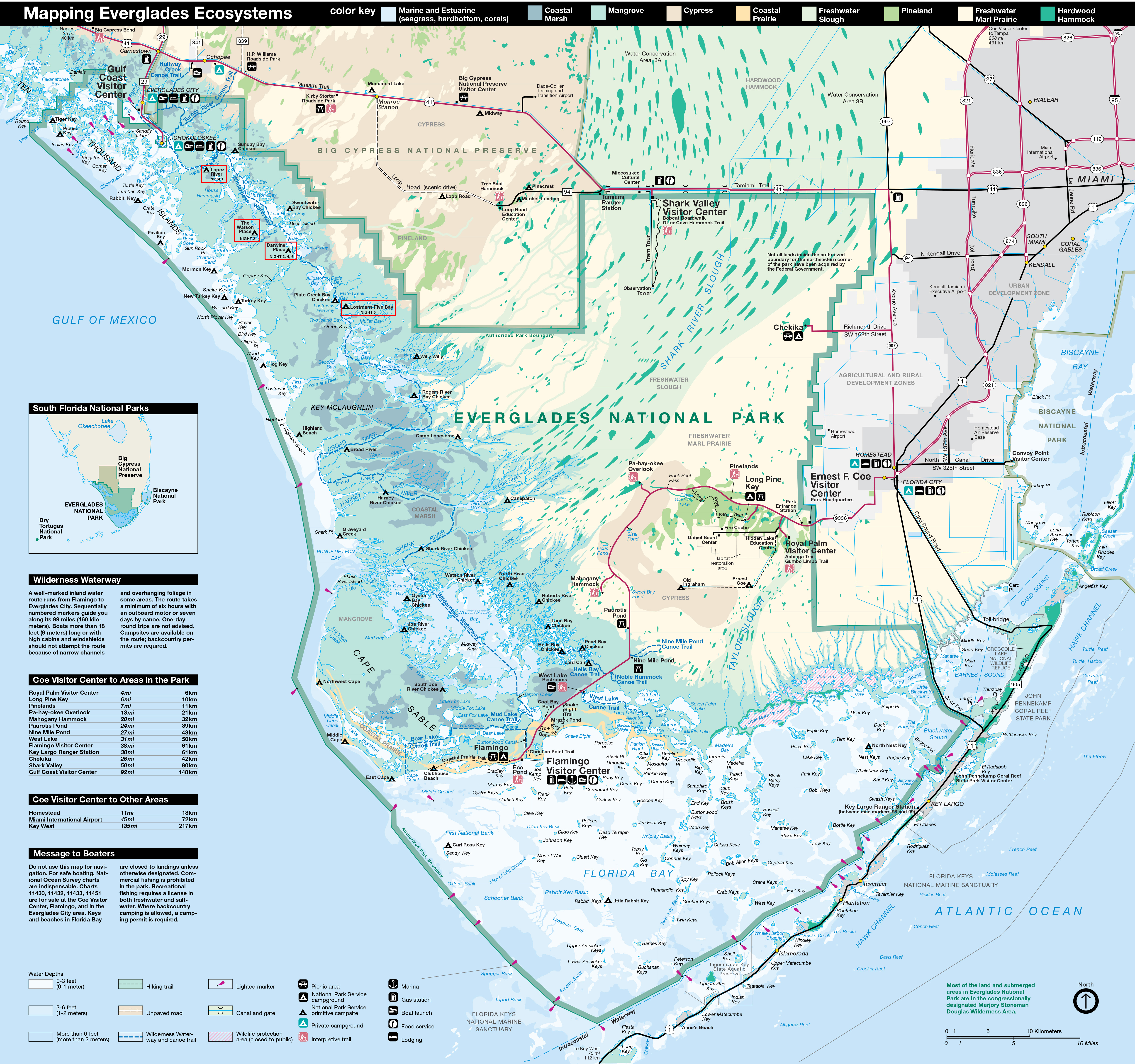 Everglades National Park PARK MAP