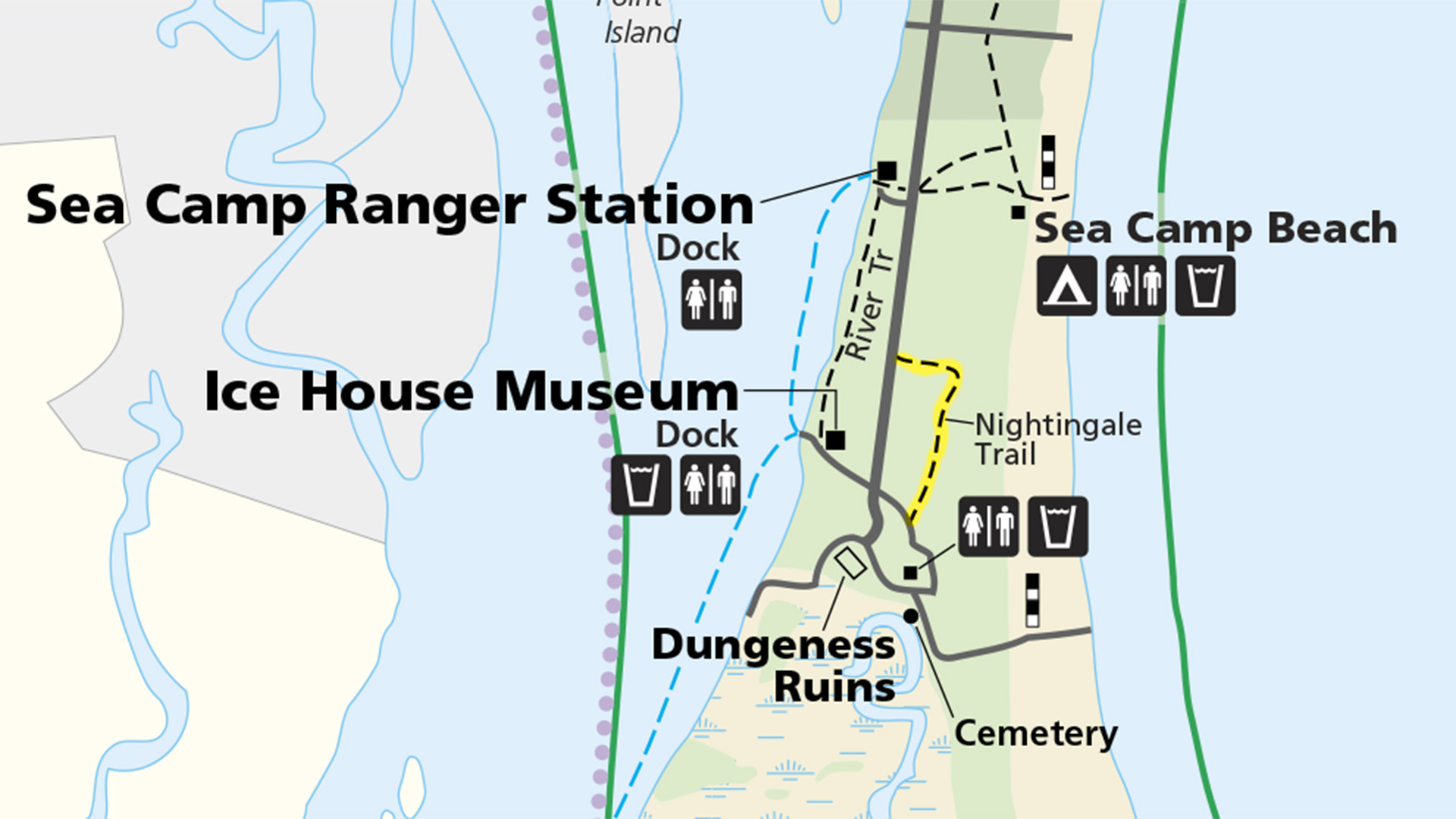 cumberland island national seashore nightingale trail