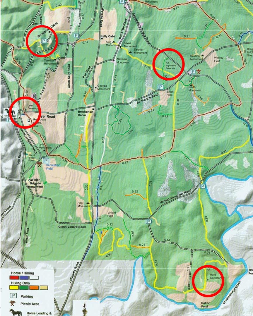 Chickamauga and Chattanooga NMP CHICKAMAUGA CEMETERIES AND GRAVES