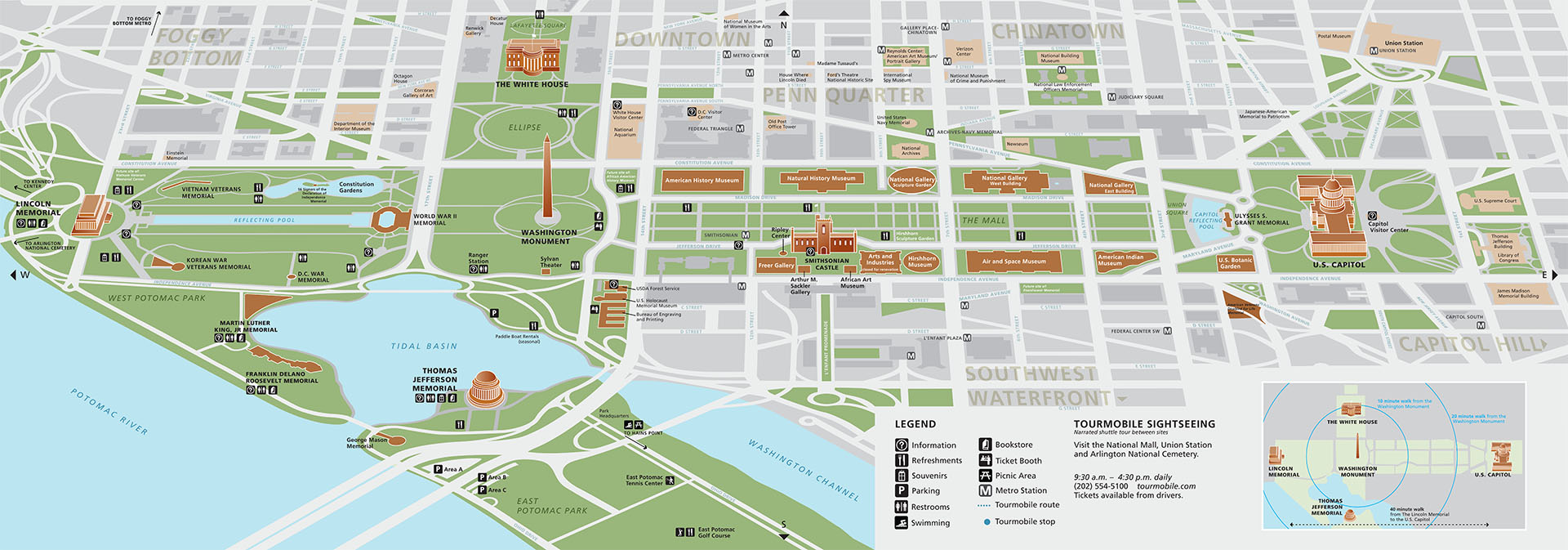 Memorial Mall Map National Mall and Memorial Parks | PARK MAP |