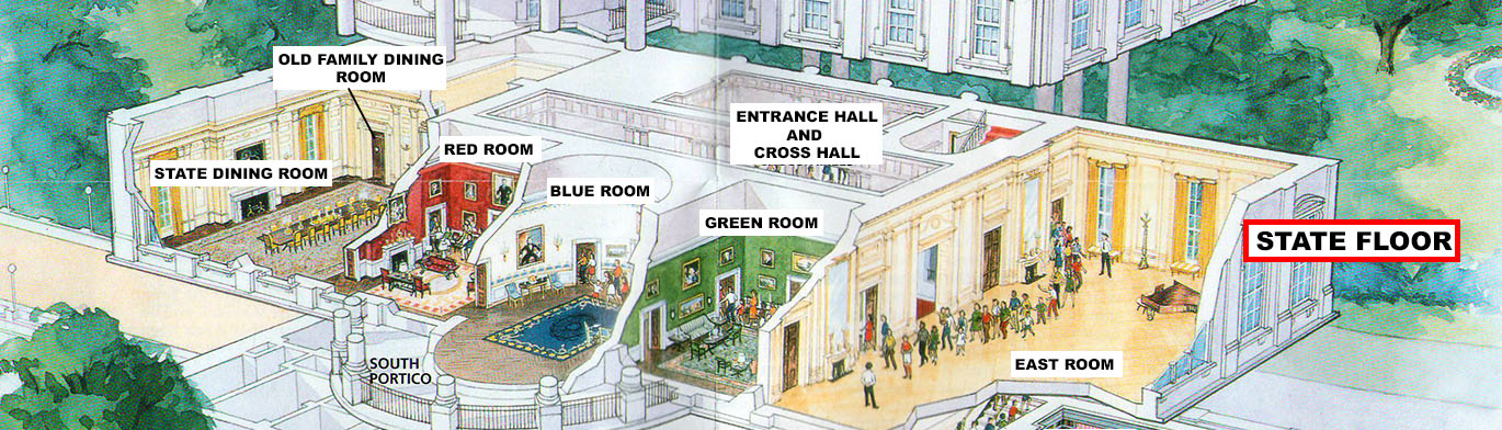 Presidents park white house white house tour state floor rooms state floor diagram click to enlarge ccuart Gallery