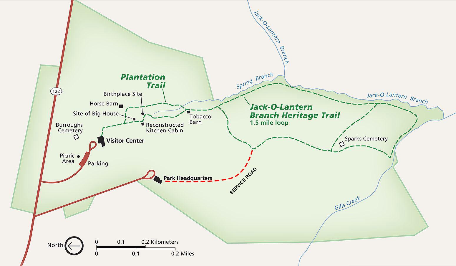 Booker T. Washington National Monument | PARK MAP |