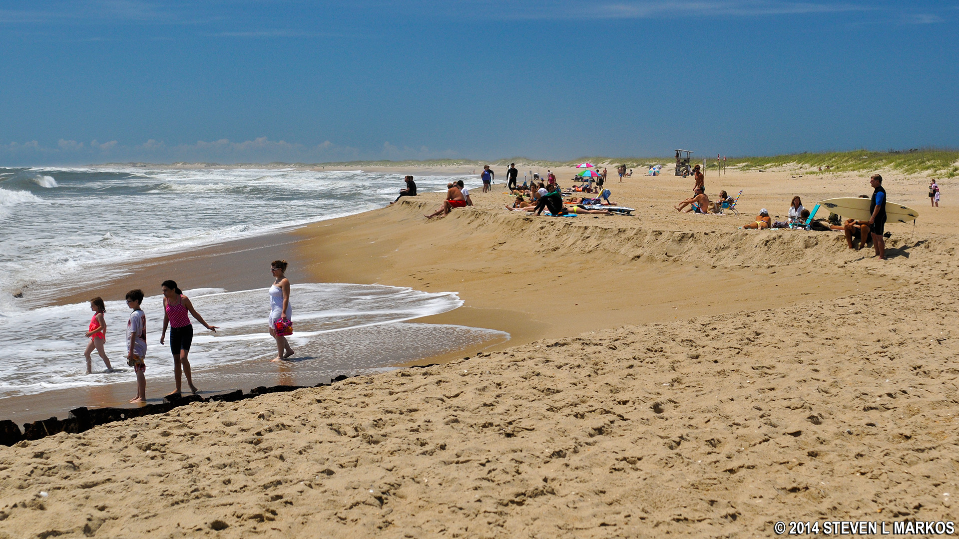 Crowds At The Por Cape Hatteras Lighthouse Beach