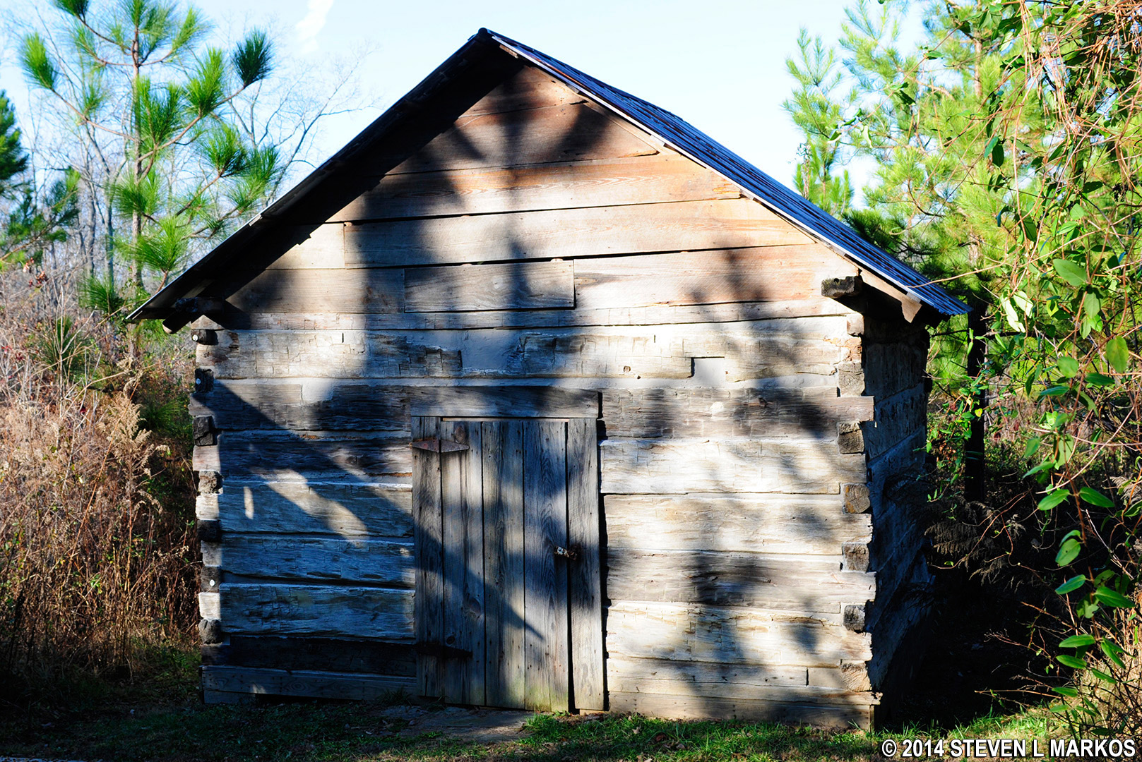 Cabin From 1832 Sits Along The Path To Learning