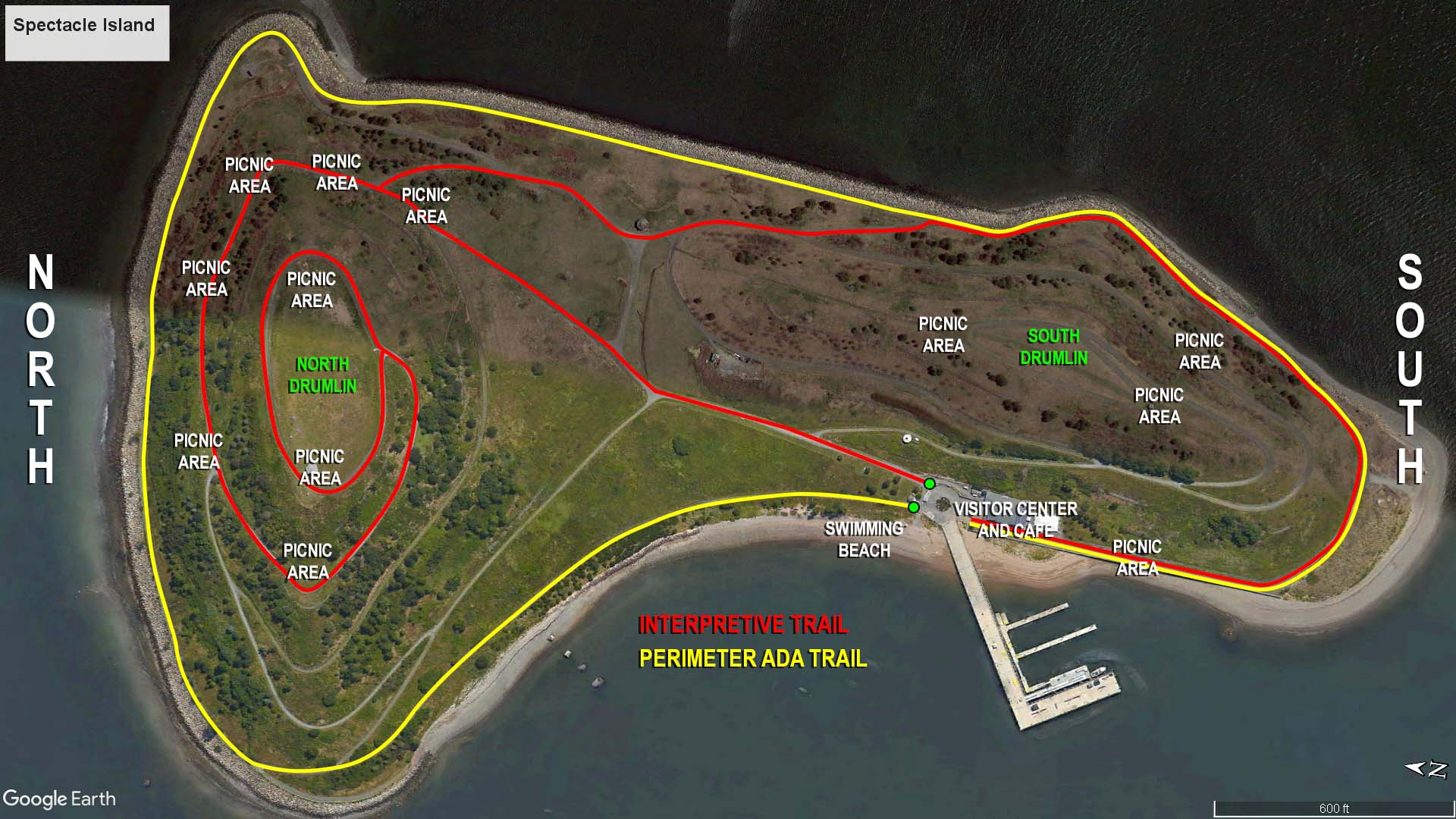 Spectacle Island Map Boston Harbor Islands National Recreation Area | SPECTACLE ISLAND